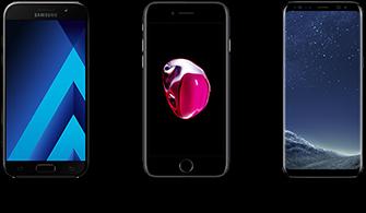 Goedkoope mobiele provider voor de Galaxy A5, S8 en iPhone7