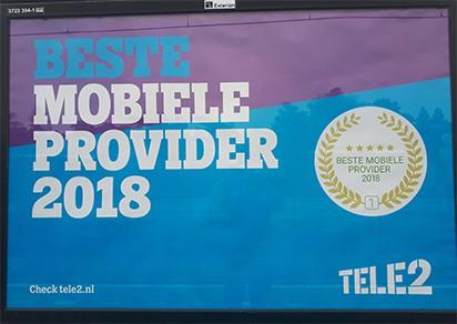 Tele2 beste mobiele provider van 2018